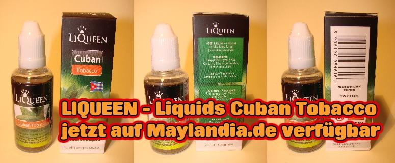 Liquids für E-Zigarette auf www.Maylandia.de