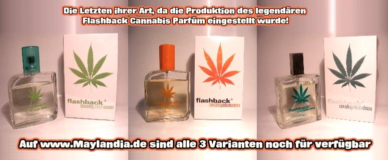 COSMETICA FANATICA Flaschback Canabisparfüm in alles drei Varianten