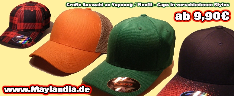 Flexfit-Caps von Yupoong auf www.Maylandia.de