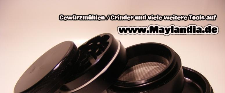 gut sortierte Auswahl an Grindern auf www.Maylandia.de